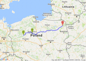 Czarnków - Bydgoszcz (kujawsko-pomorskie) - Augustów (podlaskie)
