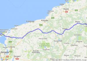 Kościerzyna (pomorskie) - Świnoujście (zachodniopomorskie)