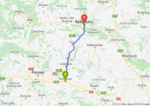 Trasa Września - Bydgoszcz