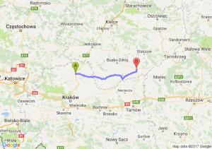 Miechów (małopolskie) - Pacanów (świętokrzyskie)