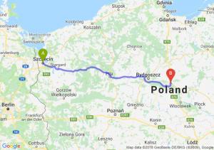 Trasa Szczecin - Lubicz Dolny