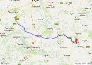 Trasa Rawa Mazowiecka - Lublin