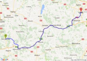 Ostrzeszów (wielkopolskie) - Łódź (łódzkie)