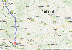 Szczecin (zachodniopomorskie) - Gorzów Wielkopolski (lubuskie) - Szklarska Poręba (dolnośląskie)