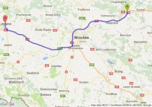 Szczodrów (dolnośląskie) - Legnica (dolnośląskie)