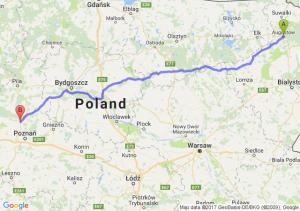 Trasa Augustów - Oborniki
