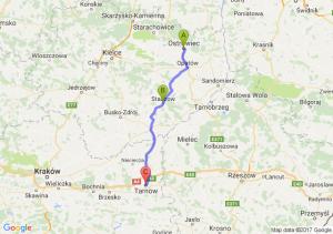 Ostrowiec świętokrzyski - Staszów - Tarnów (małopolskie)