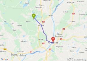 Trasa Warlubie - Grudziądz