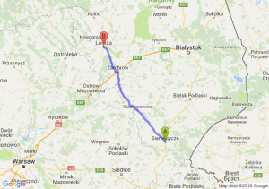 Trasa Siemiatycze - Łomża