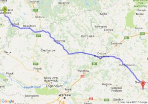 Nowe Miasto Lubawskie (warmińsko-mazurskie) - Kózki (mazowieckie)