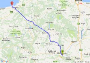 Bydgoszcz (kujawsko-pomorskie) - Mielno (zachodniopomorskie)