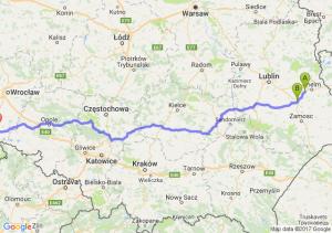 Wereszcze Małe - Krasnystaw (lubelskie) - Ząbkowice Śląskie (dolnośląskie)