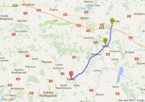 Kościelec (wielkopolskie) - Turek - Kalisz (wielkopolskie)
