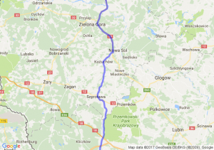 Szczecin (zachodniopomorskie) - Barcinek (dolnośląskie) - Piechowice (dolnośląskie)