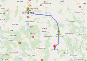Ostrów Wielkopolski (wielkopolskie) - Grabów Nad Prosną (wielkopolskie) - Doruchów (wielkopolskie)