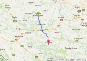 Ostrów Wielkopolski (wielkopolskie) - Kuniów (opolskie)