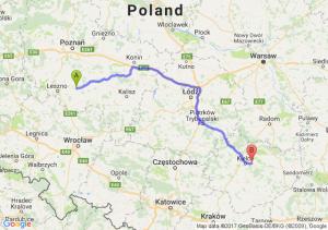 Gostyń (wielkopolskie) - Leszczyny (świętokrzyskie)