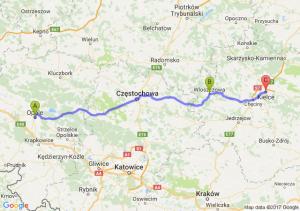 Opole (opolskie) - Włoszczowa (świętokrzyskie) - Kielce (świętokrzyskie)
