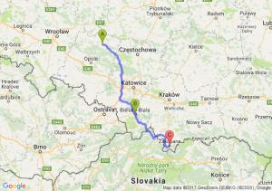 Kluczbork - Bielsko-biała (śląskie) - Zakopane (małopolskie)