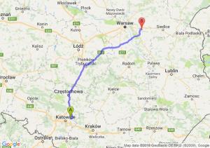 Trasa Dąbrowa Górnicza - Mińsk Mazowiecki