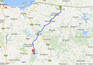 Bartoszyce (warmińsko-mazurskie) - Wlewsk (warmińsko-mazurskie)