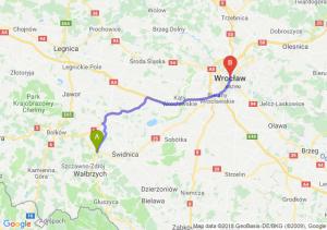 Trasa Świebodzice - Wrocław