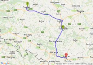 Czerwonak - Piotrków Trybunalski (łódzkie) - Kraków (małopolskie)
