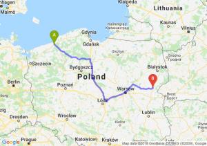 Trasa Koszalin - Siemiatycze