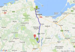 Gdynia (pomorskie) - Warlubie (kujawsko-pomorskie) - Osiek (pomorskie)