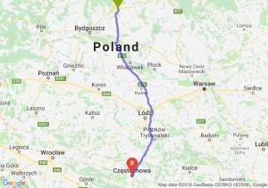 Trasa Grudziądz - Częstochowa