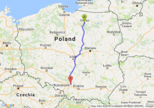 Trasa Olsztyn - Dąbrowa Górnicza