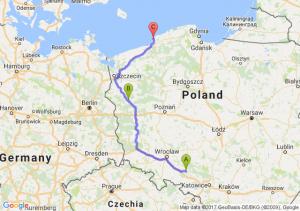 Opole (opolskie) - Gorzów Wielkopolski (lubuskie) - Darłówko (zachodniopomorskie)