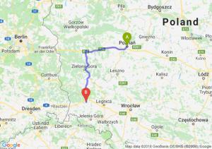 Trasa Poznań - Bolesławiec
