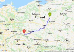 Trasa Ciechanów - Jelenia Góra