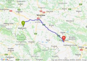 Trasa Świebodzice - Krapkowice