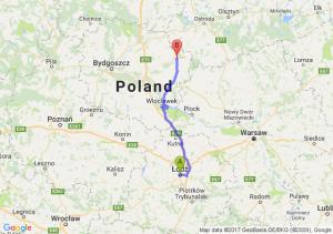 Łódź (łódzkie) - Brodnica (kujawsko-pomorskie)