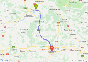 Trasa Tarnobrzeg - Rzeszów
