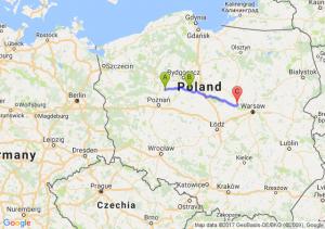 Wągrowiec (wielkopolskie) - Inowrocław (kujawsko-pomorskie) - Czerwińsk Nad Wisłą (mazowieckie)