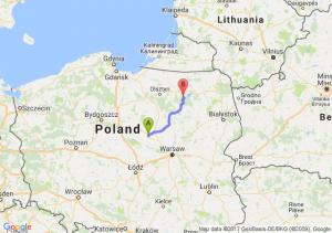 Drobin (mazowieckie) - Gałkowo (warmińsko-mazurskie)
