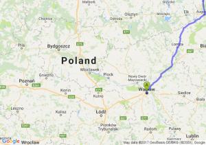 Warszawa (mazowieckie) - Budzisko (podlaskie)