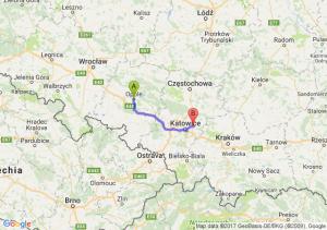 Opole (opolskie) - Sosnowiec (śląskie) Zagorze