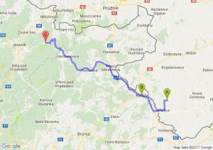 Branice (opolskie) - Krnów Czechy - Rejviz Czechy