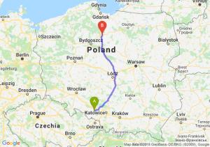 Trasa Kędzierzyn-Koźle - Grudziądz