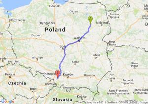 Trasa Łomża - Pszczyna