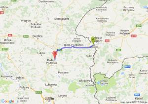 Terespol (lubelskie) - Żakowola Radzyńska (lubelskie)