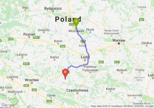 Trasa Włocławek - Wieluń