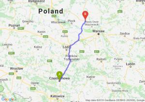 Trasa Częstochowa - Płońsk