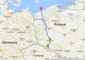 Kłodzko (dolnośląskie) - Wrocław (dolnośląskie) - Kołobrzeg (zachodniopomorskie)