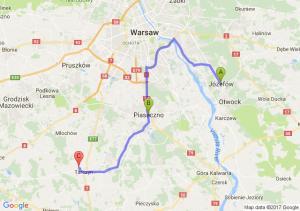 Józefów (koło Otwocka) (mazowieckie) - Piaseczno (mazowieckie) - Tarczyn (mazowieckie)