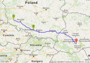 Chojnów (dolnośląskie) - Katowice (śląskie) - Tłuste Ukraina
